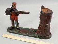 Antique 19thC J&E Stevens CREEDMOOR Civil War Soldier Cast Iron Mechanical Bank