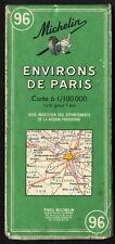 MICHELIN Carte Routière et Touristique N°96 Environ de Paris 1973
