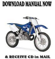 2004 Yamaha YZ250 FR factory repair service shop manuals on CD