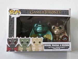 GLOW CHASE Game Of Thrones Dragon #16 Rhaegal #20 & Viserion #22 Vinyl Figures
