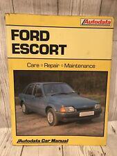 Autodata Ford Escort 1980 - 1990 car manual Vintage
