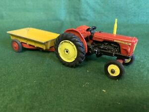 Dinky David Brown 990 Farm Vintage Tractor With Corgi tipping trailer