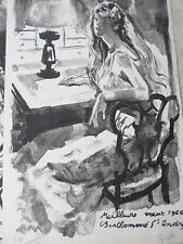 Louis BERTHOMME SAINT ANDRE-Lithographie originale-femme-1960