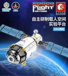 Sembo 203303 Chinese Manned Space Test Platform Building Blocks Set 1002pcs