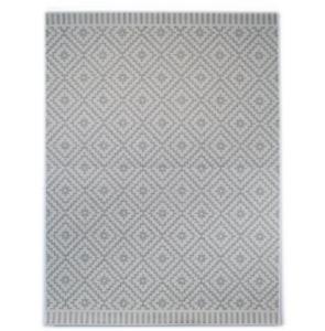 Leen Bakker ZAGI Indoor Outdoor Geometric Flatweave Grey Area Rug 120cm x 170cm