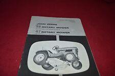 John Deere 39 47 Rotary Mower For 110 112 Garden Tractor Operators Manual YABE8