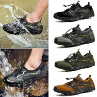 Men's Breathable Outdoor Climbing Water Shoes Hiking Non-slip Waterproof Mesh DM
