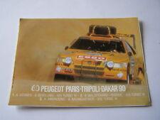 autocollant peugeot 405 turbo 16 / T16 rallye paris tripoli dakar 1990