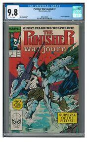 Punisher War Journal #7 (1989) Jim Lee Wolverine CGC 9.8 LK962