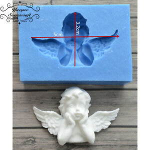 Silicone little angel cherub Embossed Mold Sugarcraft Cake Mould Decoupage M95