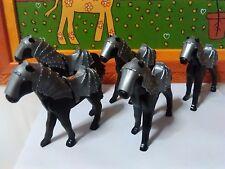 PLAYMOBIL LOTE 5u CABALLOS BATALLA 2ª GENERACION HORSES CHEVAUX CAVALLI MEDIEVAL