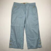 "Elevenses Anthropologie Women Light  Blue Cropped Casual Pants sz 6 (32"" W)"