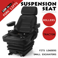 NEW SUSPENSION SEAT WITH ARMREST FITS EXCAVATOR FORKLIFT DOZER LOADER TRACTOR