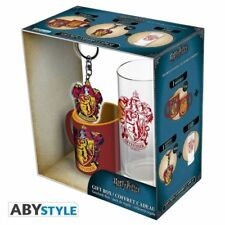 Harry Potter - pack - Tazza + portachiavi + bicchiere - Gryffindor - Grifondoro