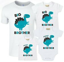 Dinosaur Big & Little Brother T-Shirts & Bodysuits - Pregnancy Reveal Gift Boys