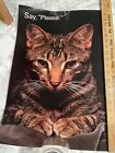 """Vintage Argus Motivational Poster; 1980's; """"Say, Please"""" Cat; 14 x 21"""""""