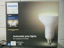 Philips Hue White BR30 LED 65W Equiv Wireless Smart Light Bulb Starter Kit