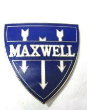 Classic Maxwell Motor Car Company Authentic Shield Radiator Emblem