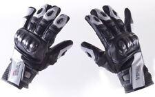 Viper Rider Motorcycle Bike Viera Gloves Summer Short Leather Textile Men's White XL