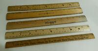 ruler wooden lot 5 Westcott Coca Cola Coke Falcon vintage
