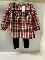 Carters 3T Plaid Dress/Shirt And  Leggings NWT MSRP$28
