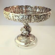 Coupe En Argent Massif Chinois 19th Chinese Export Silver
