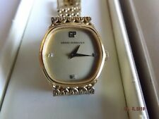 RARE SWISS vintage GIRARD PERREGAUX  Silver/ Gold ladies Manual wind watch BOXED
