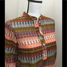 H&M Size 4 100% Cotton High Low Long Sleeve Blouse H & M Hi Low EUC
