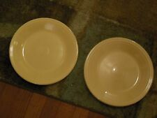 FIESTA Ware Homer Laughlin Sunflower Lemon YELLOW set of 2 DINNER PLATES