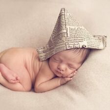 Newborn Handworked Newspaper Cap Hand Folding Cotton Hat Baby Photography Props