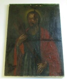 ANTIQUE 18TH CENTURY OIL PAINTING OLD MASTER RESTORATION PROJECT RELIGIOUS ICON