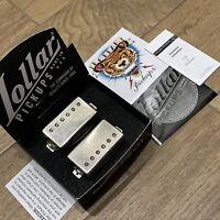 LOLLAR IMPERIAL Humbucker Pickup Set Aged Nickel Silver Neck Bridge PAF Guitar