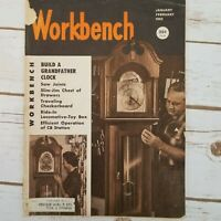 Workbench Magazine Jan Feb 1962 Build Grandfather Clock Toy Box Locomotive