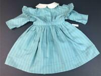 American Girl Kirsten Green Work Dress Pleasant Company tag Retired~adult owned