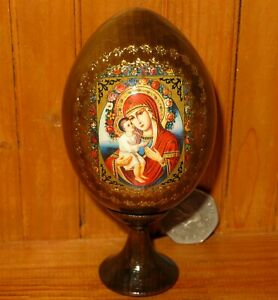 The Zhirovitsk Mother of God Icon Egg Russian Orthodox Baby Jesus & Madonna GIFT