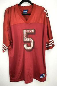 Adidas San Francisco 49ers Jeff Garcia Jersey #5 Red Size XXL 2XL Vintage