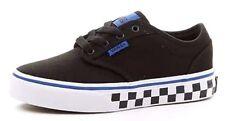 Boys VANS Atwood Check Black / Blue Trainers PUMPS Canvas UK 2 EUR 33