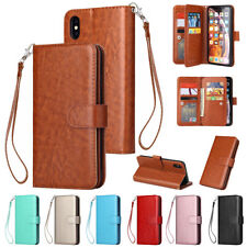 Card Holder Flip Stand Leather Wallet Case For iPhone 11 12 Pro 5 6S 7 8 Plus XR