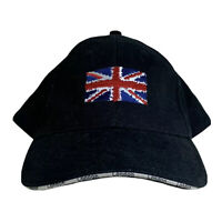 London England Flag Adjustable Baseball Cap Adult Unisex Black Hat W/ Flag