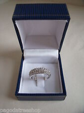 New ART de FRANCE Silver-Plated Statement Ring with Swarovski Elements Boxed