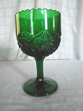 emerald green large goblet candy dish