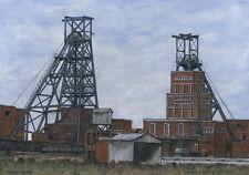 Barnburgh Colliery - 1912 - 1990 - Ltd Ed Print - Pit Pics - Coal Mining