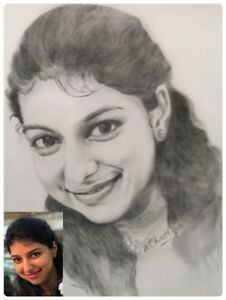 Personalized Custom PENCIL Portrait Sketch from Photo Digital FILE-SKILLED ARTIS
