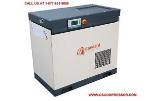 New  GS 25 HP Rotary Screw Air Compressor-  113 CFM OUTPUT