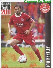 023 paul hartley. aberdeen fc sticker scottish premier league 2011 panini