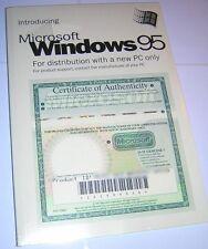 Microsoft Windows 95 Original OEM Install CD-ROM, COA/Product Key & User Guide