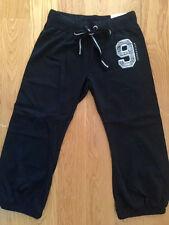 YOGA Black Red Navy Blue Capris Sweatpants cropped pants French Terry S M L