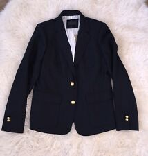 New $198 JCREW Rhodes Blazer in Italian wool 16T E1037 suiting navy blue CURRENT