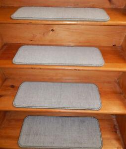 14 = Step  9'' x 24''  Stair treads Olefin Woven carpet .