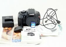 Canon EOS Rebel T3 / EOS 1100D DSLR Black Body ONLY 6K SHUTTER COUNT